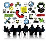 Stützhilfslösungs-Sorgfalt-Zusammenarbeits-Unterstützungs-Zusammengehörigkeit Stockbilder
