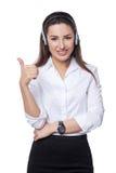 Stütztelefonbediener im Kopfhörer Lizenzfreie Stockfotos