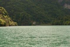 Stua湖在贝卢诺省的  免版税图库摄影
