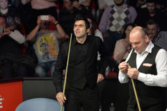Stuart Bingham and Ronnie O Sullivan Royalty Free Stock Photo