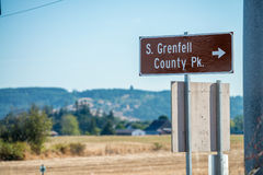 Stuart Grenfell County Park sign near Willamina and Sheridan, OR Royalty Free Stock Photos