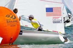 Stuart McNay och besättningen David Hughes av Miami segrade brons i mig Royaltyfria Foton