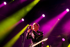 Stuart Murdoch, singer of Belle and Sebastian (band), performs at Primavera Sound 2015 Royalty Free Stock Photo