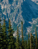 The Stuart Range from Navajo Pass, Wenatchee National Forest, Alpine Lakes Wilderness, Washington stock images