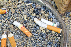 Stub in ashtray Royalty Free Stock Photo