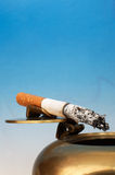 Stub of a cigarette royalty free stock photo