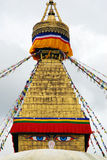Stuba de Bodhnath en Katmandu Nepal Foto de archivo