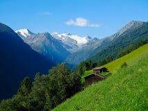 Stubai阿尔卑斯在奥地利 图库摄影