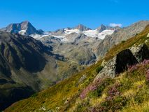 Stubai阿尔卑斯在蒂罗尔 免版税库存照片