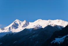 Stubai Alpen peaks in morning, Austria, Europe Royalty Free Stock Images