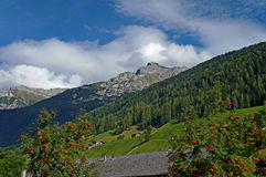 In the Stubai Alps in Tyrol Royalty Free Stock Photo