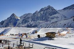 Austria, Tirol, Wintersport Royalty Free Stock Images