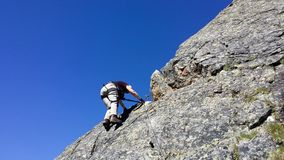 _ Stubai för bergregion` `, Utbildning in vaggar klättring arkivbilder