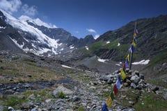 Stubai glacier Royalty Free Stock Photo