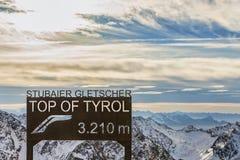 Stubai lodowiec, wierzchołek Tirol Obraz Royalty Free