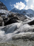 Stubai valley: Glacier river Royalty Free Stock Image