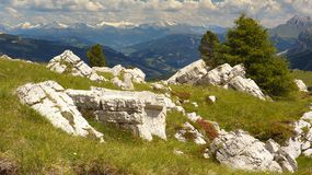 Stubaialpen van Dolomiet stock foto
