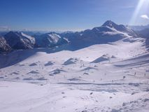 Stubaier Gletscher Imagen de archivo libre de regalías