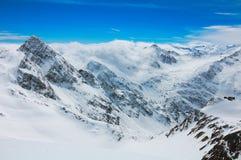 Stubaier Gletscher krajobraz Zdjęcia Stock