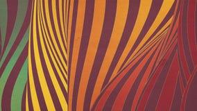 Stubarwna falowa chy? p?tli animacja Futurystyczny geometryczny linia wzor?w ruchu t?o ?wiadczenia 3 d 4k UHD ilustracja wektor