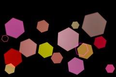 Stubarwna heksagonalna dziura Na czarnym tle ilustracji