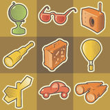 stubarwna ikony podróż ilustracja wektor
