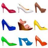 Stubarwna kobieta shoes-21 Zdjęcia Stock