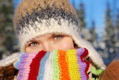 stubarwna portreta szalika zima Fotografia Stock