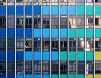 Stubarwna szklana fasada nowożytny drapacz chmur Obraz Royalty Free