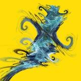 Stubarwne abstrakt postacie Obraz Royalty Free