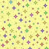 stubarwne bezszwowe deseniowe gwiazdy Zdjęcia Stock
