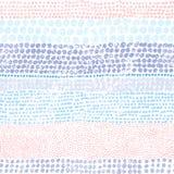 Stubarwne kropki na białym tle Bezszwowy pasiasty tupocze Zdjęcia Royalty Free