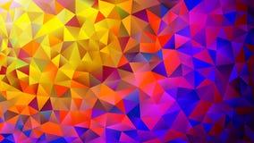 Stubarwne menchie i błękitnego poligonalnego kalejdoskopu abstrakcjonistyczny tło, pokrywa, składać się z struktura trójboki Teks obrazy royalty free