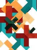 Stubarwni abstrakcjonistyczni geometryczni kształty, geometrii tło dla sieć sztandaru Obraz Royalty Free
