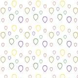 Stubarwni balonów kontury Na biały tle Zdjęcia Stock