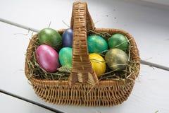 stubarwni Easter jajka Obrazy Stock
