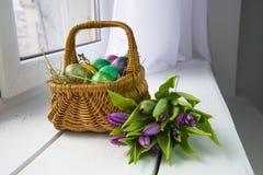stubarwni Easter jajka Zdjęcie Stock