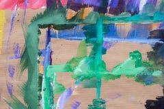 Stubarwni kleksy na przetwarzającej papierowej tło teksturze ilustracji