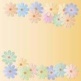 Stubarwni kwiaty na pomarańczowym tle Zdjęcie Stock