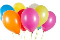Stubarwni lotniczy balony obraz stock