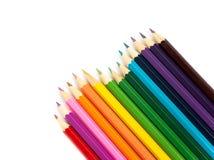stubarwni ołówki Obrazy Royalty Free