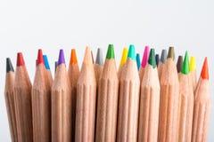 Stubarwni ołówki Zdjęcie Royalty Free