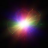 Stubarwni serca na ciemnym tle ilustracja wektor