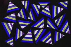 Stubarwni trójboki zdjęcie royalty free