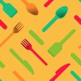 Stubarwny cutlery ikon pomarańcze tło ilustracji