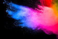 Stubarwny cząsteczka wybuch na białym tle obraz royalty free