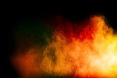 Stubarwny cząsteczka wybuch na czarnym tle fotografia stock