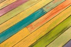 Stubarwny drewniany tło - rocznik tekstura Zdjęcie Stock