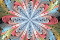 Stubarwny fractal kwiat w witrażu okno stylu Ty c obraz stock