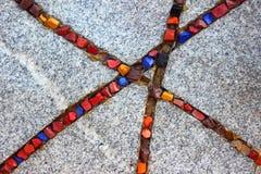 Stubarwny kamienny ornament Fotografia Stock